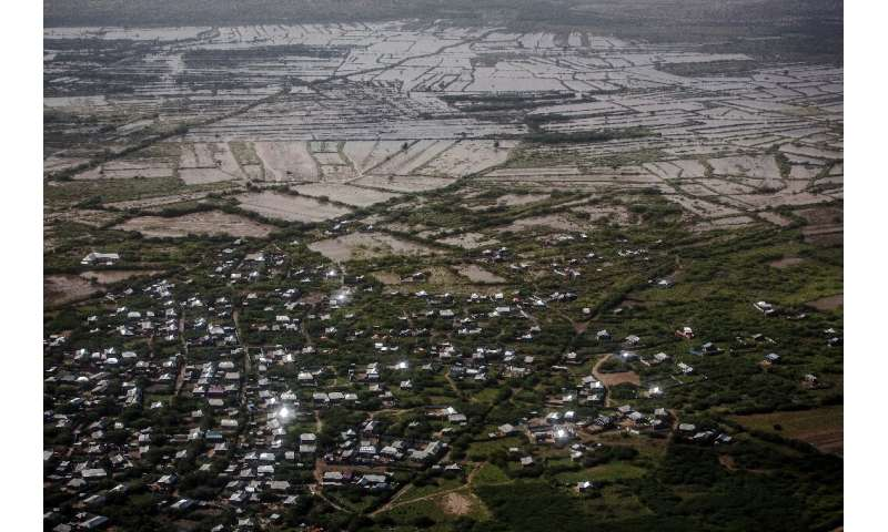 The town of Beledweyne was inundated in the flood—the waters are now slowly receding