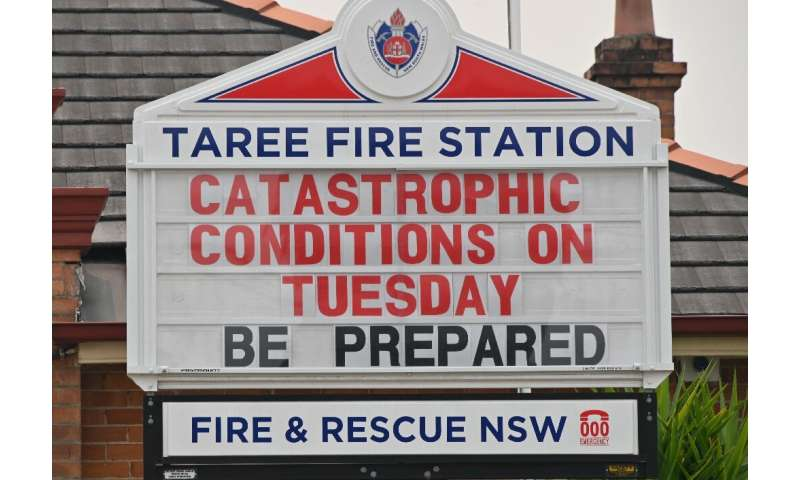 The town of Taree, 350 kilometres north of Sydney, was readying for