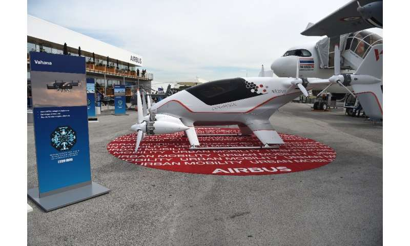 The Vahana is Airbus's single-seat prototype all-electric, tilt-wing aircraft to provide personal mobility services in urban are