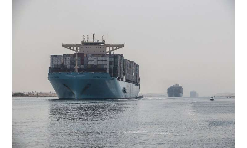The world's largest container ships can now sail down the Suez Canal thanks to an extension opened in 2015