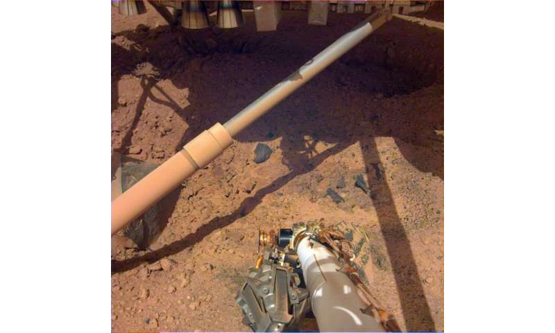 This is what the ground looked like after inSight landed on Mars