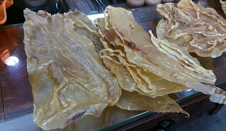 Totoaba fish swim bladders are highly prized in Chinese cuisine for their supposed medical properties