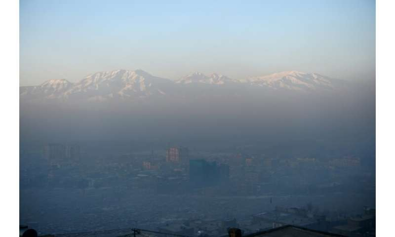 Toxic smog caused by people burning coal, wood, car tyres and garbage to keep warm, has blanketed Kabul