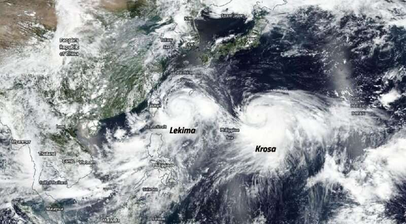 Typhoon Krosa follows leader Supertyphoon Lekima