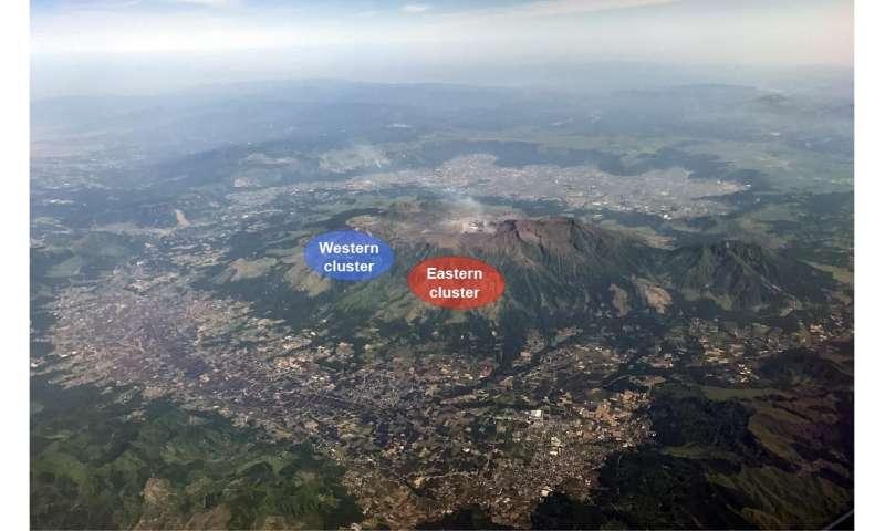 Underground links between quakes and eruptions of Japan's biggest active volcano