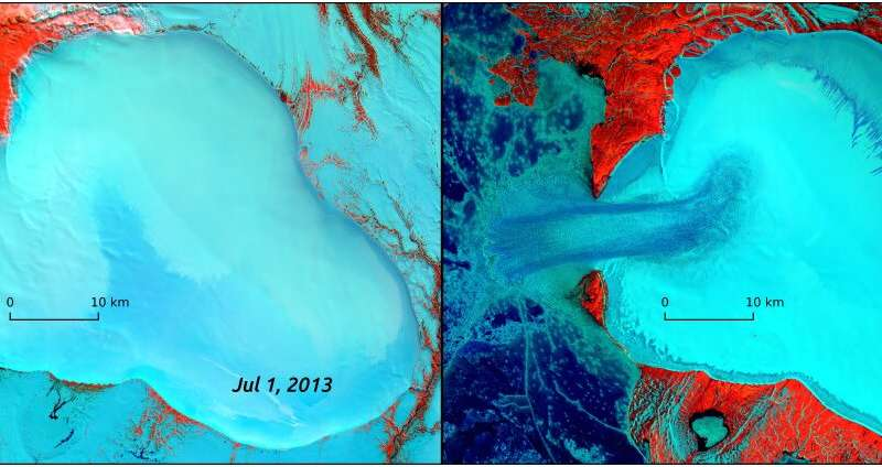 Unusual glacier flow could be first-ever look at ice stream formation