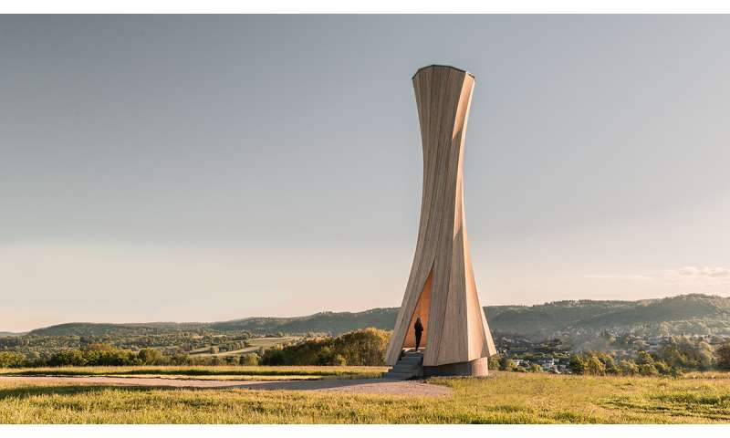 Urbach Tower offers view of self-shaping architecture