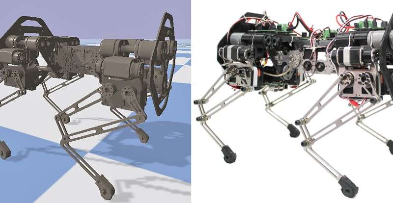 Using a simulation framework to study spine behaviors of quadruped robots