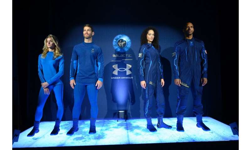 US sportswear manufacturer Under Armour designed the new space suits for Virgin Galactic's upcoming commericial flights