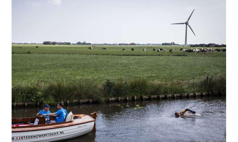 Van der Weijden embarked on the 195-kilometre adventure on Friday