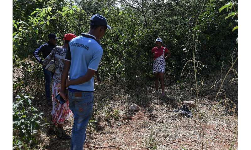 Villagers at the scene of an elephant trampling in which a man died