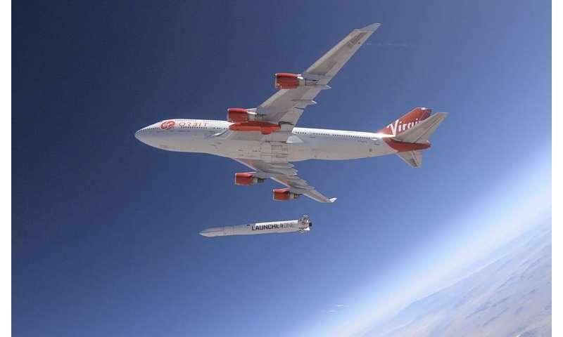 Virgin Orbit conducts drop-test of rocket from Boeing 747