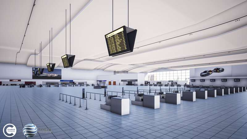 Virtual airport to improve accessibility for passengers with additional mobility needs