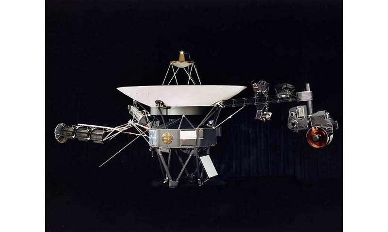 Voyager 2 left Earth's orbit in 1977 a month before its twin Voyager 1, but took seven years longer to reach the heliosphere's o