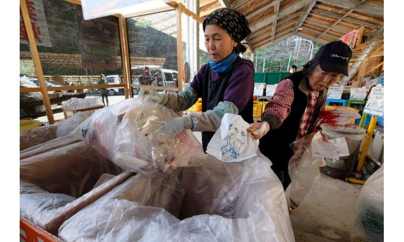 Waste is sorted into 45 categories for recycling and residents are expected to dismantle items falling into more than one catego