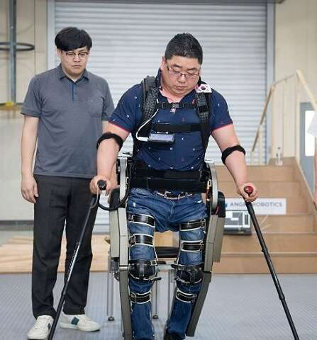 Wearable robot 'WalkON Suit' off to Cybathlon 2020