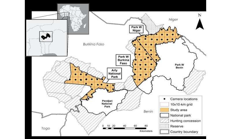 West African camera survey details human pressures on mammals in protected areas