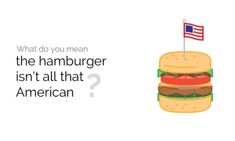 What do you mean the hamburger isn't all that American?