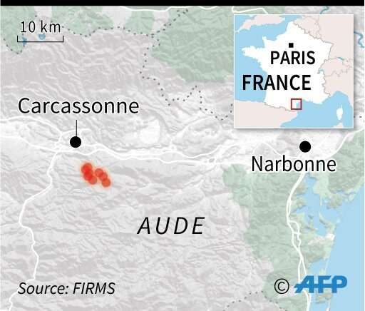 Wildfire in southern France