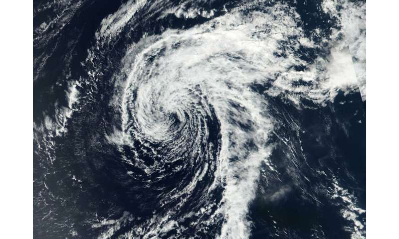 Wutip now a depression, spotted on NASA-NOAA satellite imagery