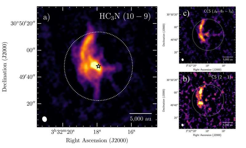 A growing stellar system directly fed by the mother cloud