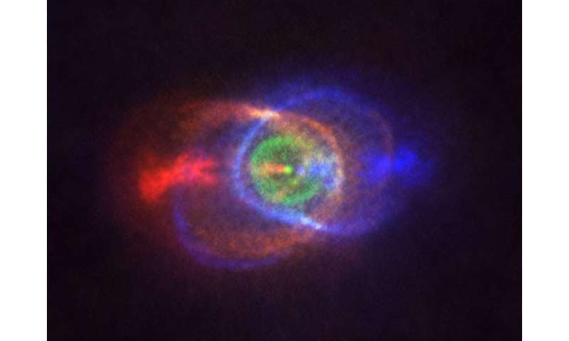 ALMA catches beautiful outcome of stellar fight