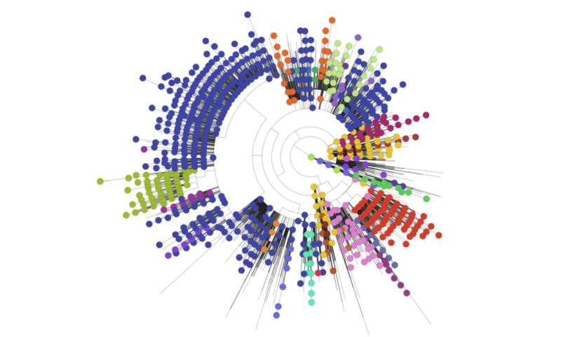 Analysis of COVID-19 genomes reveals large numbers of introductions to the UK in march