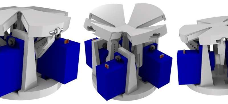 Ujung jari robot yang terinspirasi origami dengan kemampuan mengubah bentuk