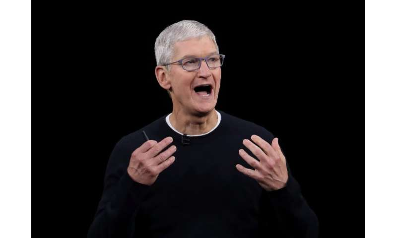 Apple CEO Tim Cook, seen here in September 2019, announced a $100 million initiative by the company to promote racial equity and