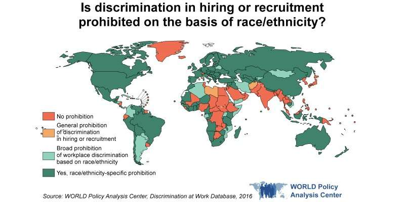 Around the world, critical gaps in protections against workplace discrimination