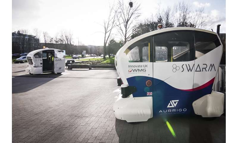 Autonomous pods SWARM together like bees in world first demonstration