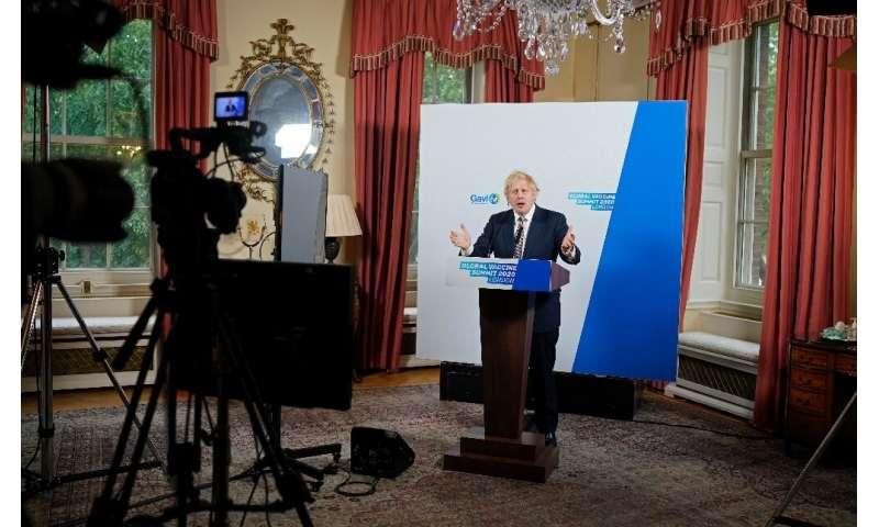 Britain's Prime Minister Boris Johnson hosted the Global Vaccine Summit online raising pledges of $8.8 billion