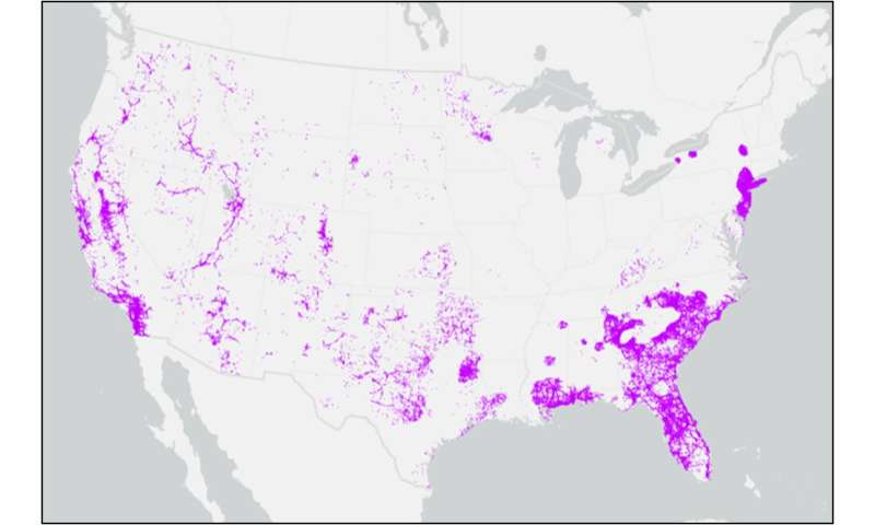 Cellular networks vulnerable to wildfires across U.S.