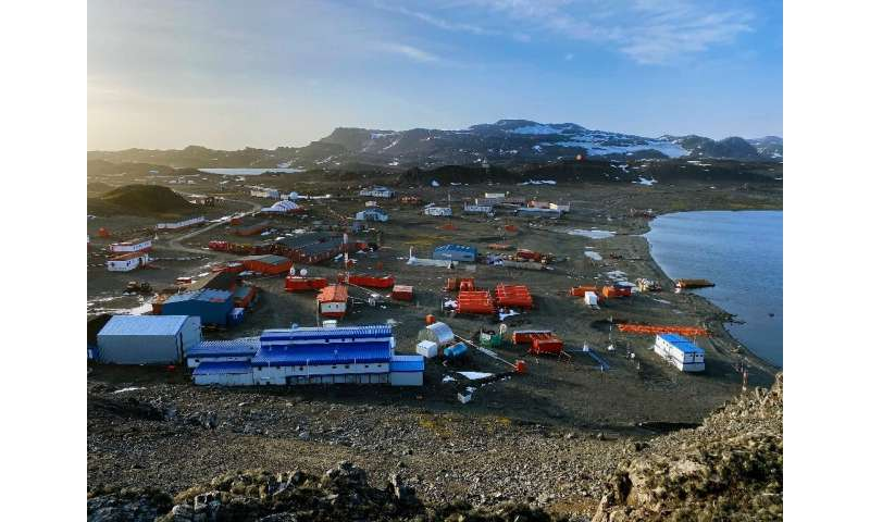 Chile's Eduardo Frei Antarctic station on the Fildes Peninsula, King George island, on May 10, 2020