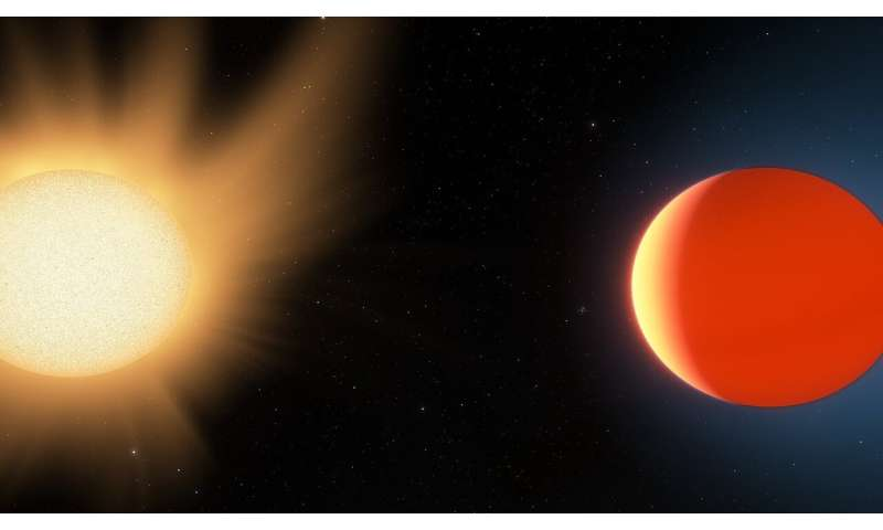 Data reveals evidence of molecular absorption in the atmosphere of a hot Neptune