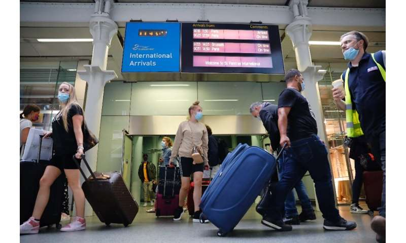 Eurostar trains to London's St Pancras station from Paris were packed on Friday