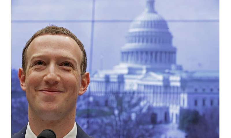 """Facebook founder Mark Zuckerberg said he fears """"an increased risk of civil unrest"""" after the vote on November 3"""