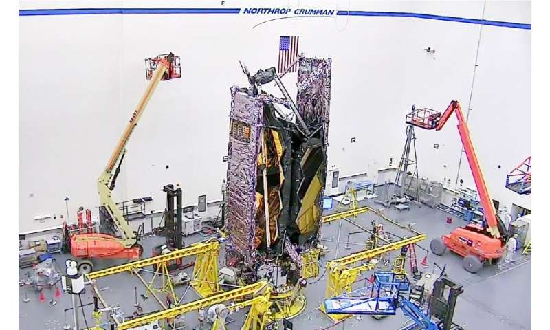First look: NASA's James Webb space telescope fully stowed