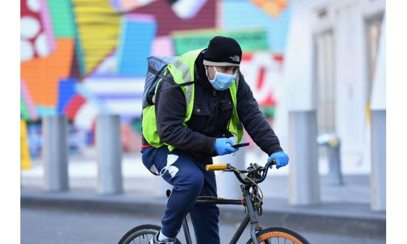 Food delivery personnel for Instacart were among those joining US job actions to press for improved health and safety measures f
