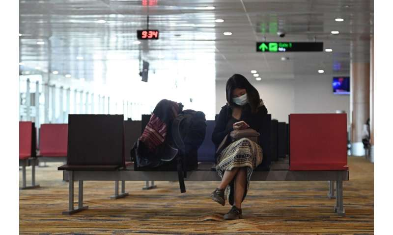 Global airline travel has dropped off, particularly in Asia, due to the virus