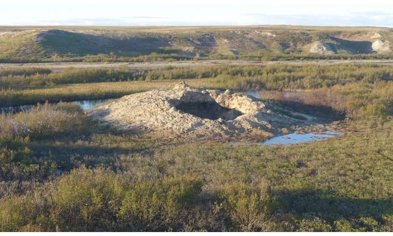 Here be methane: Scientists investigate the origins of a gaping permafrost crater
