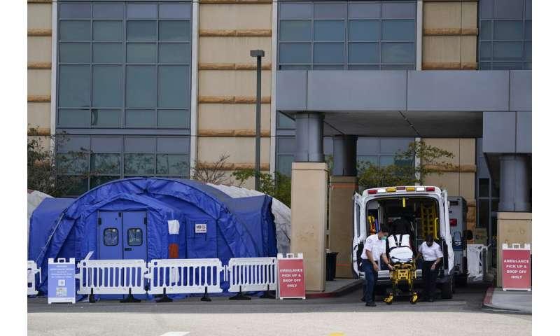 Hot spot: California hospitals buckle as virus cases surge