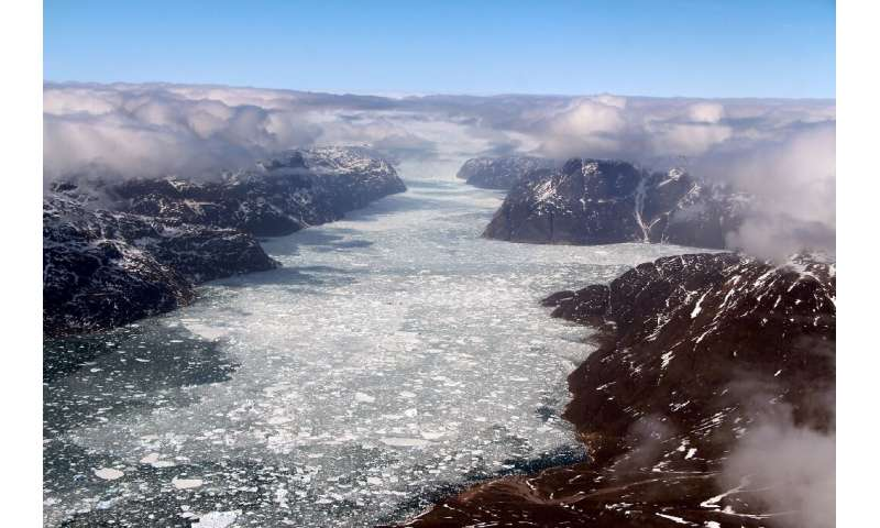 If all of Greenland's ice sheet were to melt, it would lift global oceans by seven metres