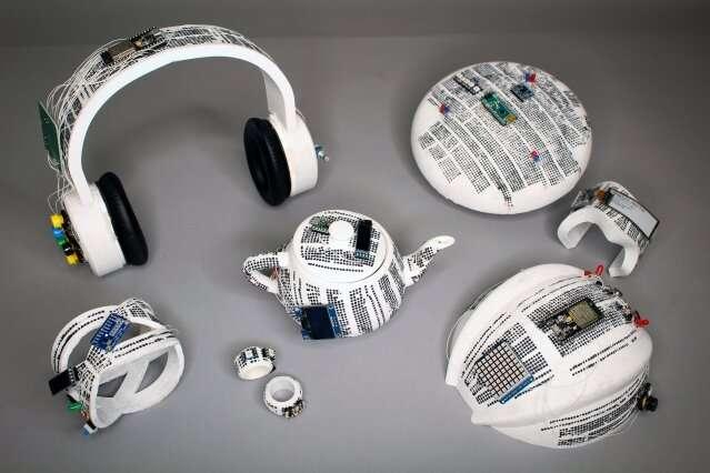 Integrating electronics onto physical prototypes