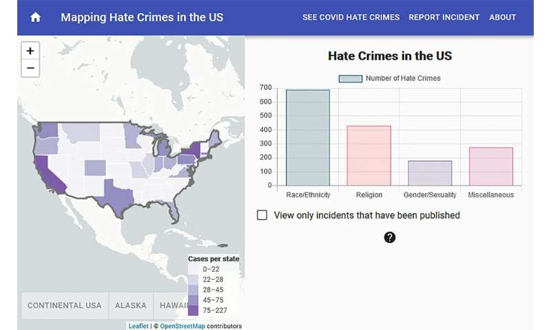 Interactive map will crowdsource hate crime reports