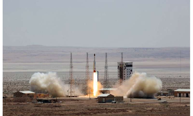 Iran has said the scientific observation satellite Zafar would be launched into orbit by a Simorgh rocket like the one seen in t