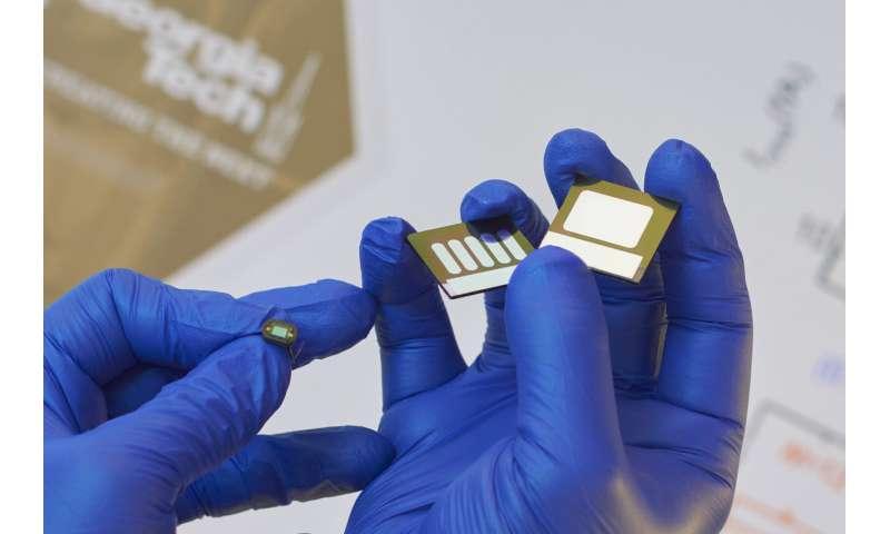 Dioda organik fleksibel area luas dapat bersaing dengan perangkat silikon