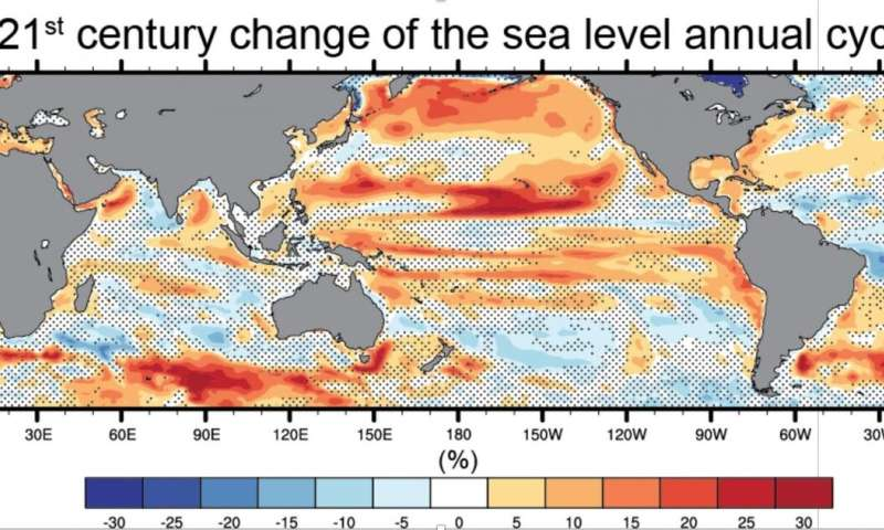Larger variability in sea level expected as Earth warms