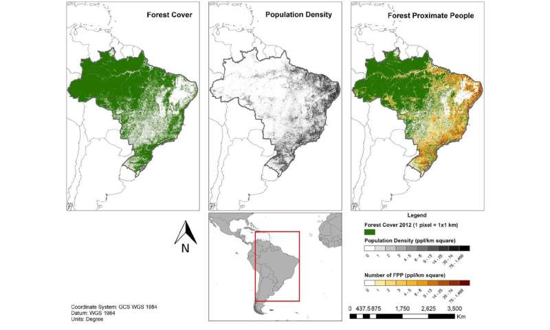Mapping the 1.6 billion people who live near forests
