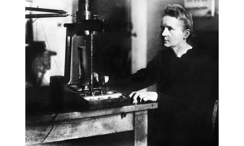 Marie Curie, the first woman to win a Nobel science prize, and the only person to win one in two different disciplines (physics